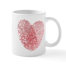 Finerprint Valentines Day Heart Mug