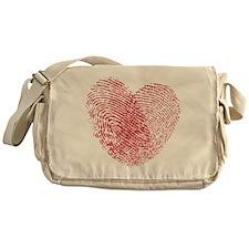 Finerprint Valentines Day Heart Messenger Bag