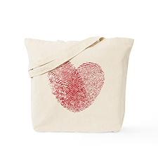 Finerprint Valentines Day Heart Tote Bag