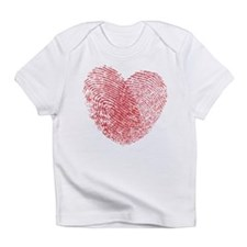 Finerprint Valentines Day Heart Infant T-Shirt