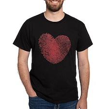 Finerprint Valentines Day Heart T-Shirt