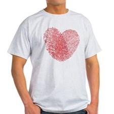 Finerprint Valentines Day Heart T-Shirt