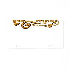 Deadwood Saloon Aluminum License Plate