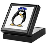 Policeman penguin Keepsake Box