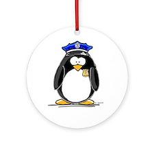 Policeman penguin Ornament (Round)