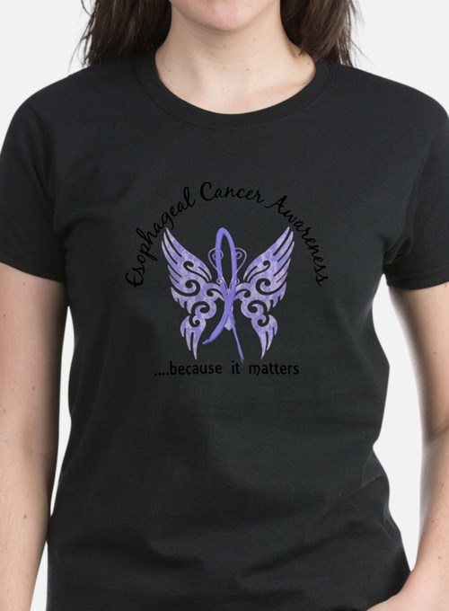 Esophageal Cancer Butterfly 6.1 T-Shirt