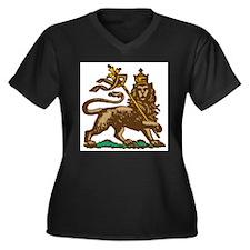H.I.M. 3 Women's Plus Size V-Neck Dark T-Shirt