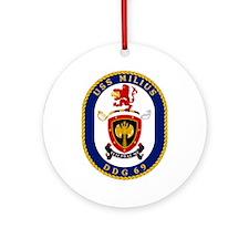 USS Milius DDG 69 Ornament (Round)