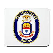 USS Gonzalez DDG 66 Mousepad
