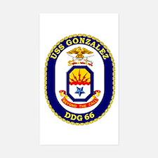USS Gonzalez DDG 66 Rectangle Decal