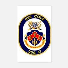 USS Cole DDG 67 Rectangle Decal