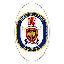 USS Milius DDG 69 Oval Decal