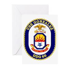 USS Gonzalez DDG 66 Greeting Cards (Pk of 10)