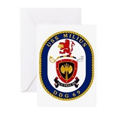 USS Milius DDG 69 Greeting Cards (Pk of 10)