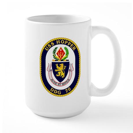 DDG-70 USS Hopper Large Mug