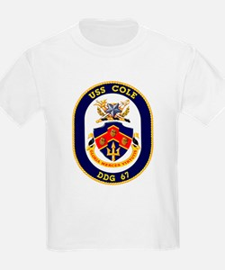USS Cole DDG 67 Kids T-Shirt