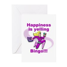 Happiness is yelling bingo!!! Greeting Cards (Pk o