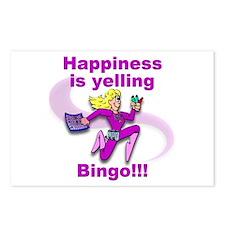Happiness is yelling bingo!!! Postcards (Package o