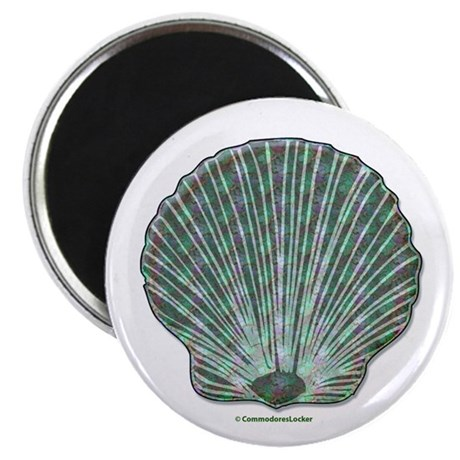 "Blue-green Scallop Shell 2.25"" Magnet (100 pack)"