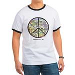 Awesome Peace Asheville Art Ringer T Shirt