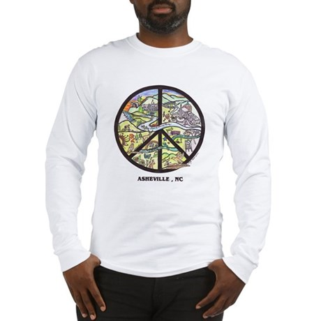 Awesome Asheville Peace Signs Long Sleeve T-Shirt
