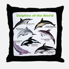 Dolphins of the World Throw Pillow