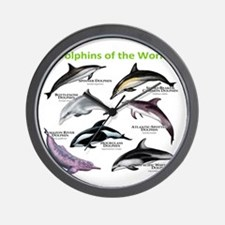 Dolphins of the World Wall Clock