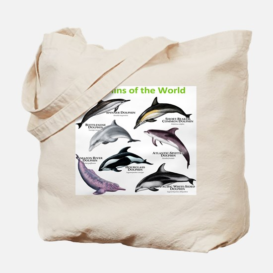 Dolphins of the World Tote Bag