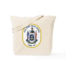 USS John Paul Jones DDG 53 Tote Bag
