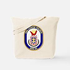 USS Curtis Wilbur DDG 54 Tote Bag