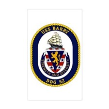USS Barry DDG 52 Rectangle Decal