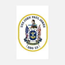 USS John Paul Jones DDG 53 Rectangle Decal