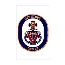 USS Stout DDG 55 Rectangle Decal