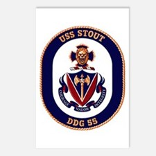 USS Stout DDG 55 Postcards (Package of 8)