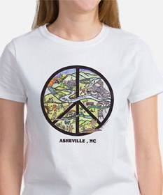 Hip Chick Tee Peace Sign Asheville