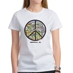 Hip Chick Women's T-Shirt Peace Sign Asheville