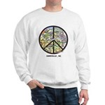 Super Groovy Sweatshirt Peace Asheville Art