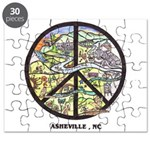 Awesome Asheville , Nc Peace sign Puzzle
