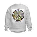 Groovy Kids ! Awesome Asheville Peace Sweatshirt