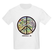 Groovy Kids ! Asheville , Nc Peace Sign T-Shirt