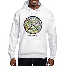 Hip Hoodie Sweatshirt Peace Asheville Artwork