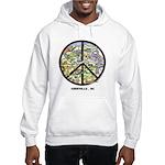 Hip Hooded Sweatshirt Peace Asheville Artwork