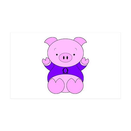 Libra Cartoon Pig 38.5 x 24.5 Wall Peel