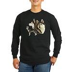 Siberian Husky Long Sleeve Dark T-Shirt