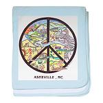 Groovy Baby! Asheville Artwork Peace Sign blanket