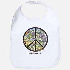 Groovy Baby ! Asheville Peace Sign Baby Bib