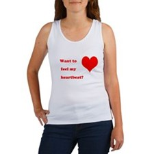 Feel my heartbeat Women's Tank Top