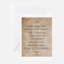 Saint Augustine Greeting Card