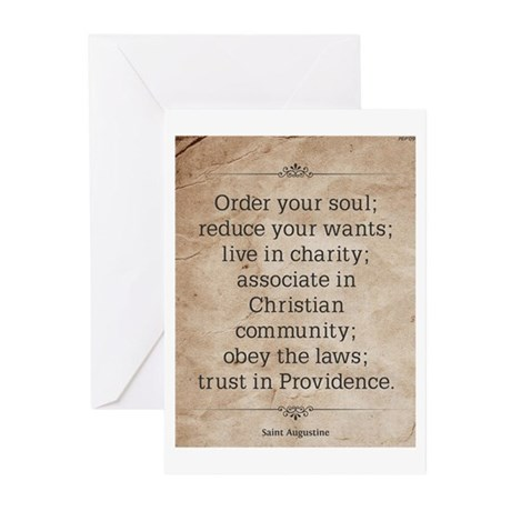 Saint Augustine Greeting Cards (Pk of 20)