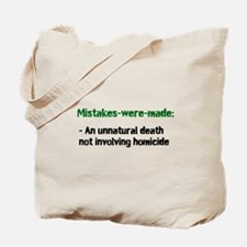Mistakes were made definition Tote Bag